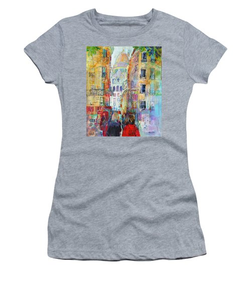 An Evening Walk To Sacre Coeur Women's T-Shirt