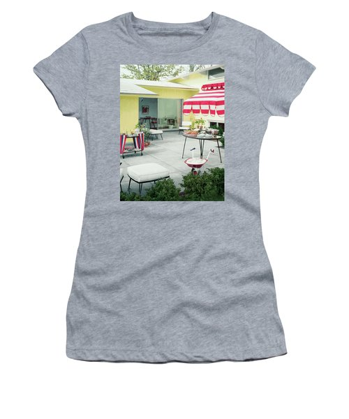 An Outside Area Set Up For A Party Women's T-Shirt