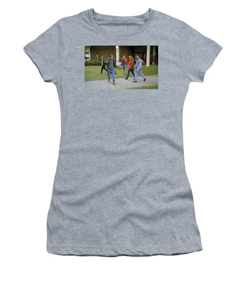 Women's T-Shirt (Junior Cut) featuring the painting And I Looked Down At My Shoes . . . by Luis Ludzska
