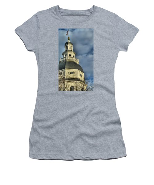 Annapolis Statehouse Women's T-Shirt (Junior Cut) by Jennifer Wheatley Wolf