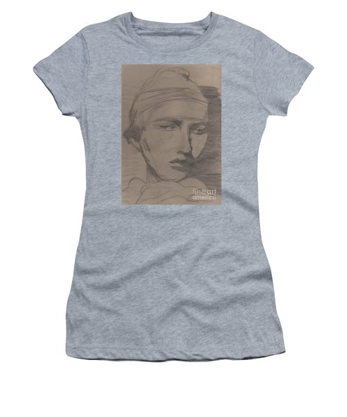 Women's T-Shirt (Junior Cut) featuring the drawing Antigone By Jrr by First Star Art