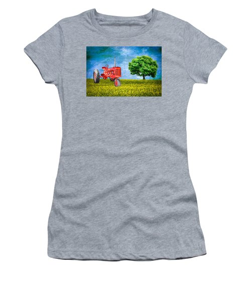 Antique Farmall Tractor Women's T-Shirt (Athletic Fit)