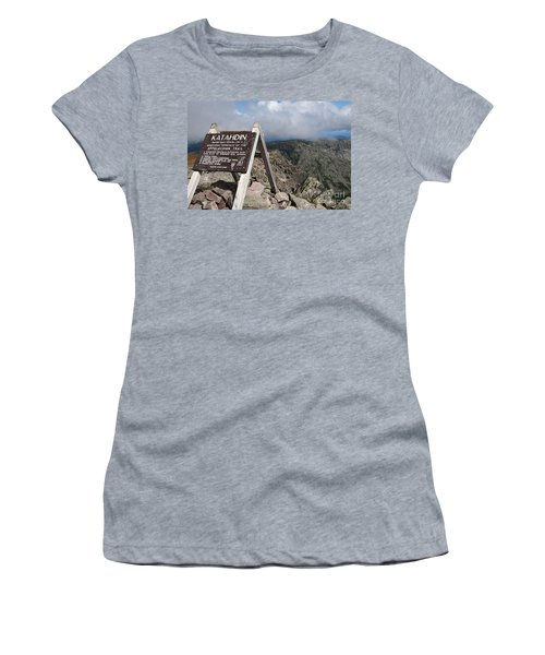 Appalachian Trail Mount Katahdin Women's T-Shirt (Athletic Fit)