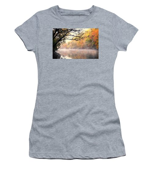 Women's T-Shirt (Junior Cut) featuring the photograph Arching Tree On The Current River by Marty Koch