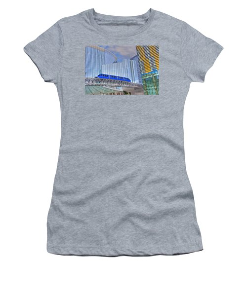 Aria Las Vegas Nevada Hotel And Casino Tram  Women's T-Shirt (Athletic Fit)
