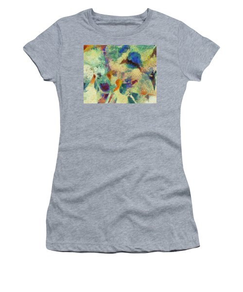 Women's T-Shirt (Junior Cut) featuring the painting As Our Eyes Met by Joe Misrasi