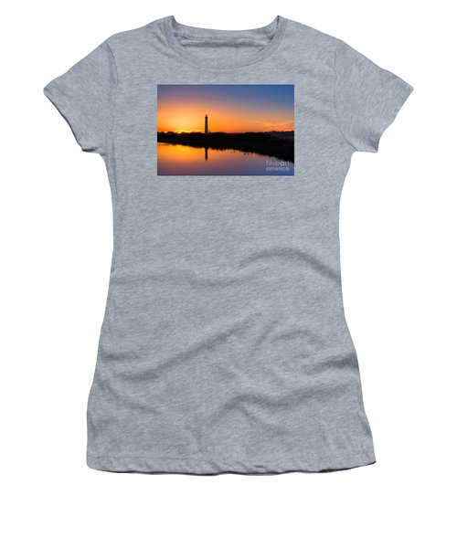 As The Sun Sets And The Water Reflects Women's T-Shirt