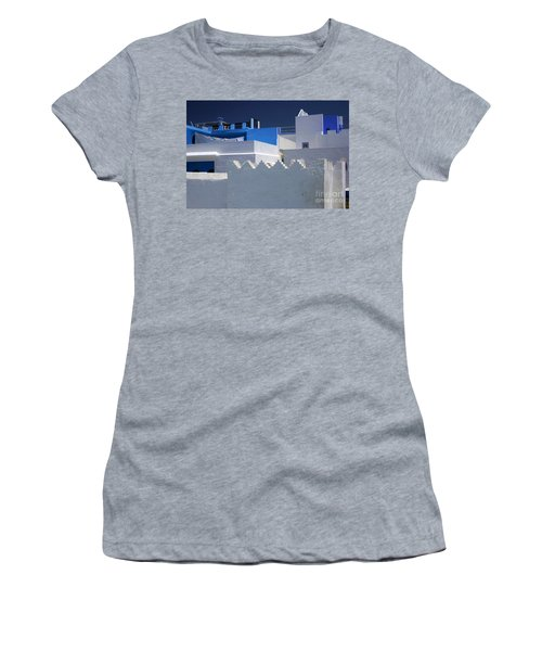 Women's T-Shirt (Junior Cut) featuring the photograph Asilah Meaning Authentic In Arabic Fortified Town On Northwest Tip Of Atlantic Coast Of Morocco by Ralph A  Ledergerber-Photography