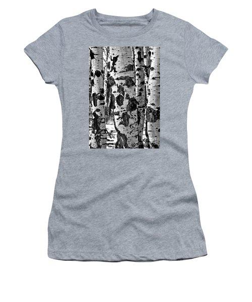 Women's T-Shirt featuring the photograph Aspen Art by Mae Wertz