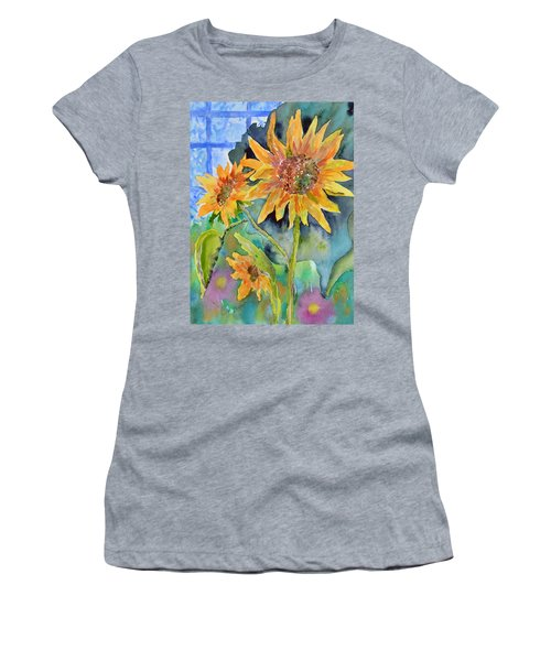 Attack Of The Killer Sunflowers Women's T-Shirt