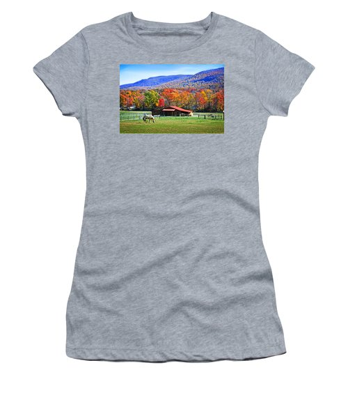 Autumn In Rural Virginia  Women's T-Shirt (Athletic Fit)