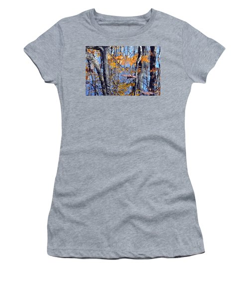 Autumn Reflection With Leaf Women's T-Shirt (Athletic Fit)