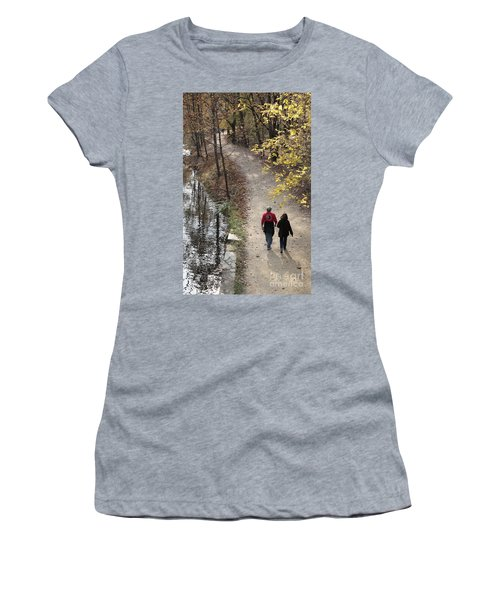Autumn Walk On The C And O Canal Towpath Women's T-Shirt