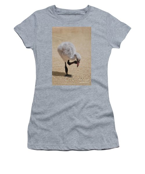 Baby Flamingo Women's T-Shirt (Junior Cut) by DejaVu Designs
