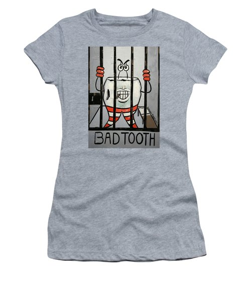 Women's T-Shirt featuring the painting Bad Tooth by Anthony Falbo