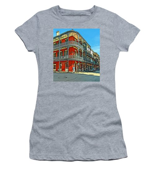 Balconies Painted Women's T-Shirt (Athletic Fit)