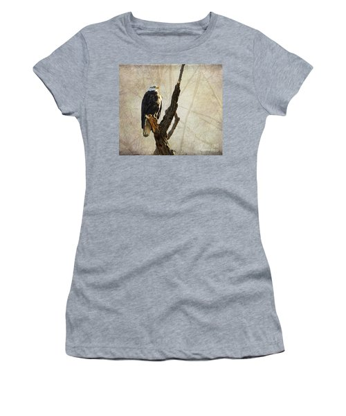 Bald Eagle Keeping Watch In Illinois Women's T-Shirt (Athletic Fit)
