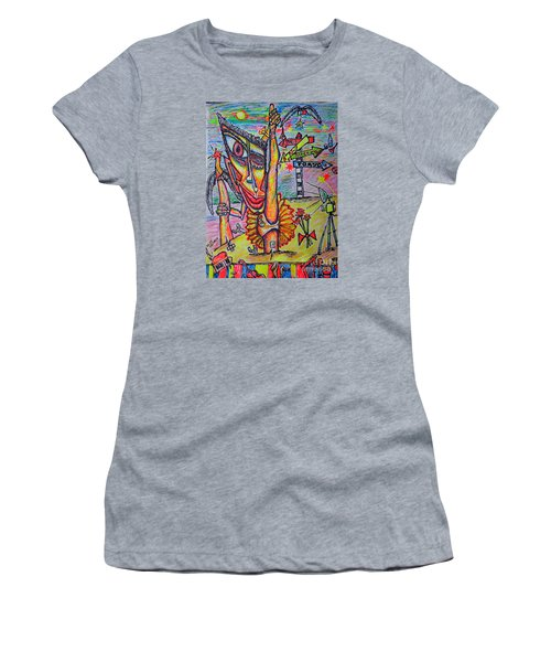 Women's T-Shirt (Junior Cut) featuring the painting Ballet/sketch/ by Viktor Lazarev