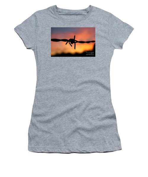 Barbed Silhouette Women's T-Shirt (Junior Cut) by Vicki Spindler
