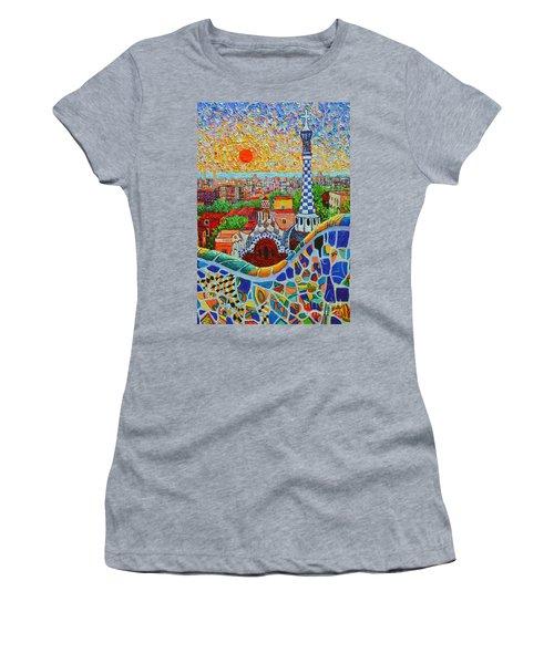 Barcelona Sunrise - Guell Park - Gaudi Tower Women's T-Shirt