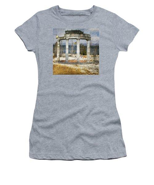Women's T-Shirt (Junior Cut) featuring the digital art Barren Shoreline by Liane Wright