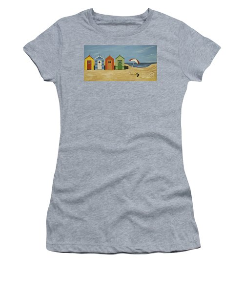 Beach Huts Women's T-Shirt (Athletic Fit)
