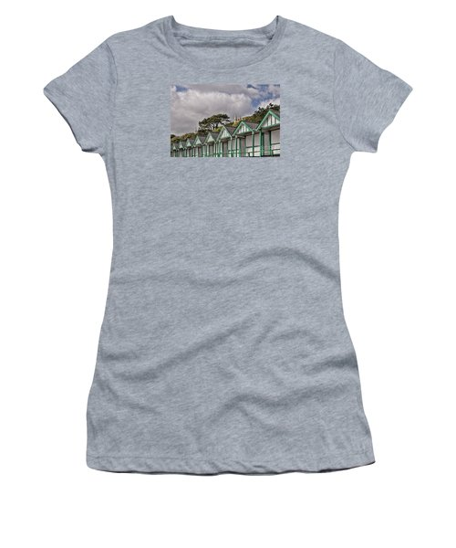 Beach Huts Langland Bay Swansea 3 Women's T-Shirt (Athletic Fit)