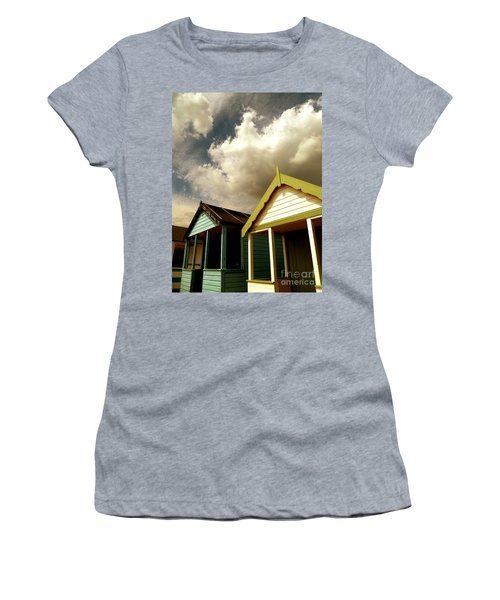 Beach Huts Women's T-Shirt (Junior Cut) by Vicki Spindler