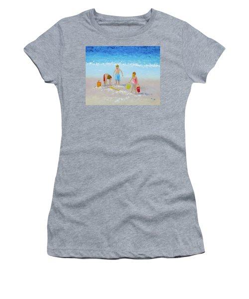 Beach Painting - Sandcastles Women's T-Shirt