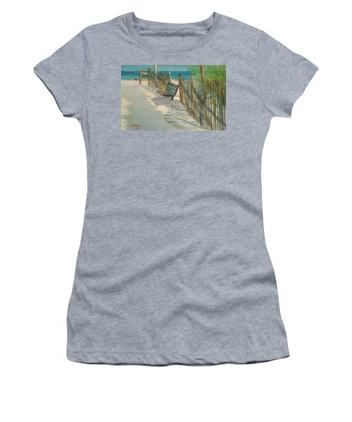 Beach Patterns Women's T-Shirt (Athletic Fit)