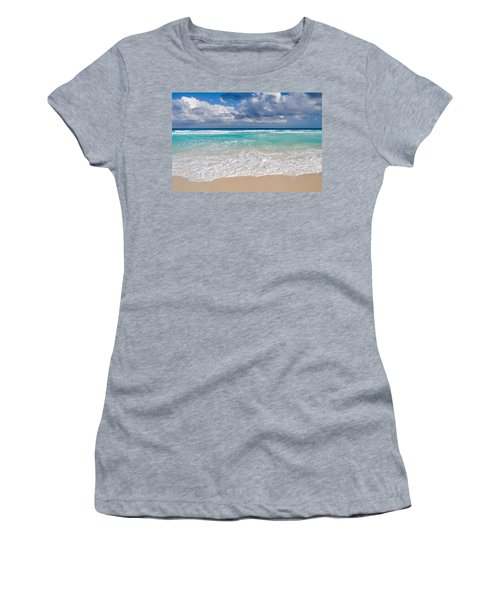 Beautiful Beach Ocean In Cancun Mexico Women's T-Shirt (Athletic Fit)