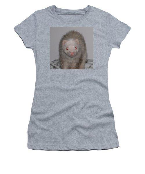 Women's T-Shirt (Junior Cut) featuring the photograph Beautiful Panda Ferret by Belinda Lee