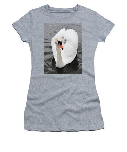 Women's T-Shirt (Junior Cut) featuring the photograph Beautiful Swan by Tiffany Erdman
