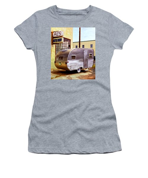 Becky's Vintage Travel Trailer Women's T-Shirt (Athletic Fit)