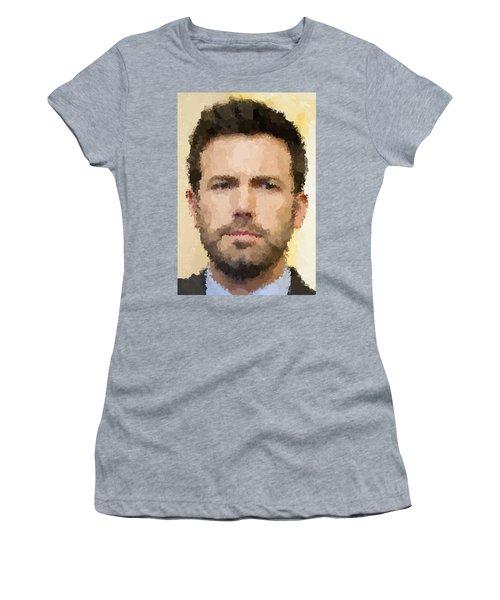 Ben Affleck Portrait Women's T-Shirt (Athletic Fit)