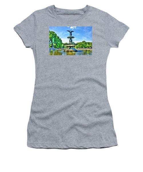 Bethesda Fountain At Central Park Women's T-Shirt