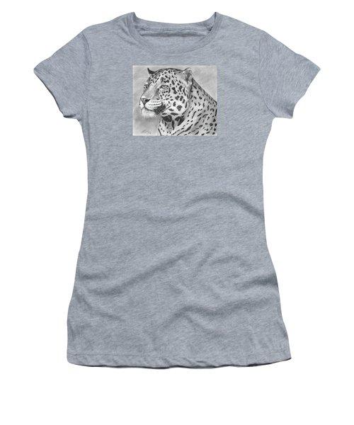 Big Cat Women's T-Shirt (Junior Cut) by Lena Auxier