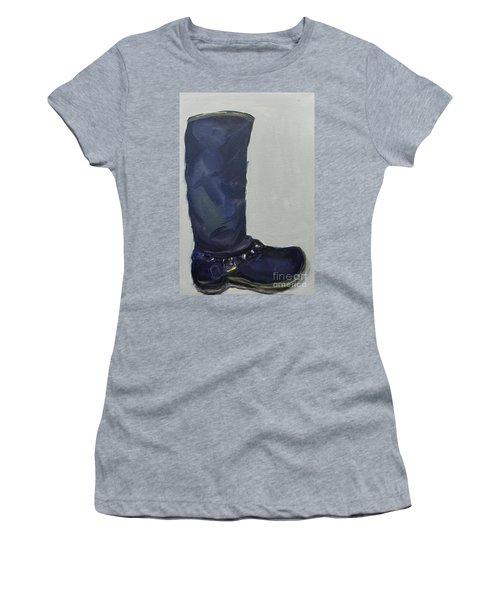 Biker Boot Women's T-Shirt (Athletic Fit)