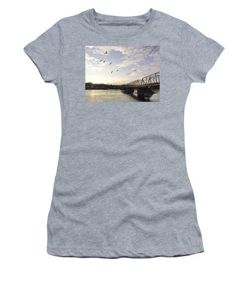 Birds And Bridges Women's T-Shirt (Athletic Fit)