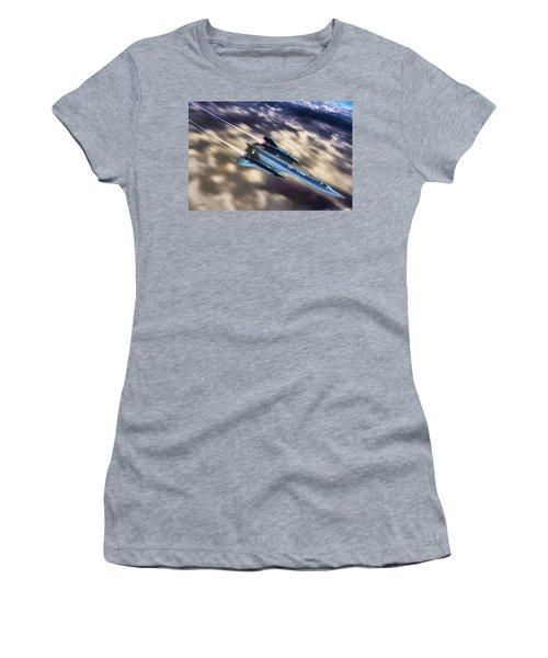 Blackbird Women's T-Shirt (Junior Cut) by Dave Luebbert