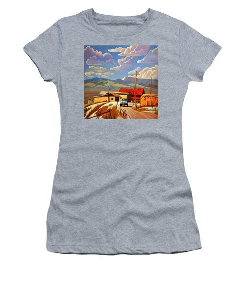 Women's T-Shirt (Junior Cut) featuring the painting Blue Apache by Art James West