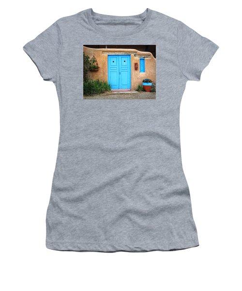 Blue Doors Of Taos Women's T-Shirt