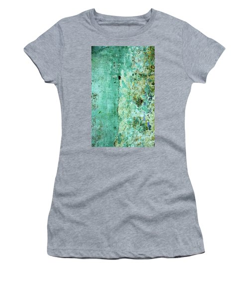 Blue Green Wall Women's T-Shirt (Athletic Fit)