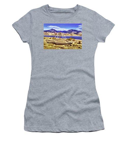 Women's T-Shirt (Junior Cut) featuring the painting Blue by Muhie Kanawati