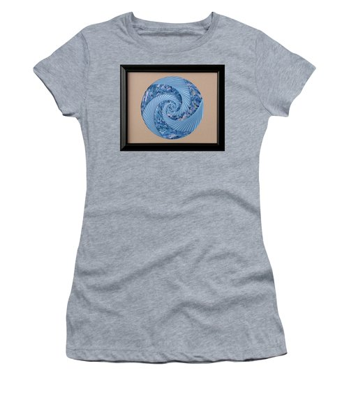 Women's T-Shirt (Junior Cut) featuring the mixed media Blue Pool by Ron Davidson