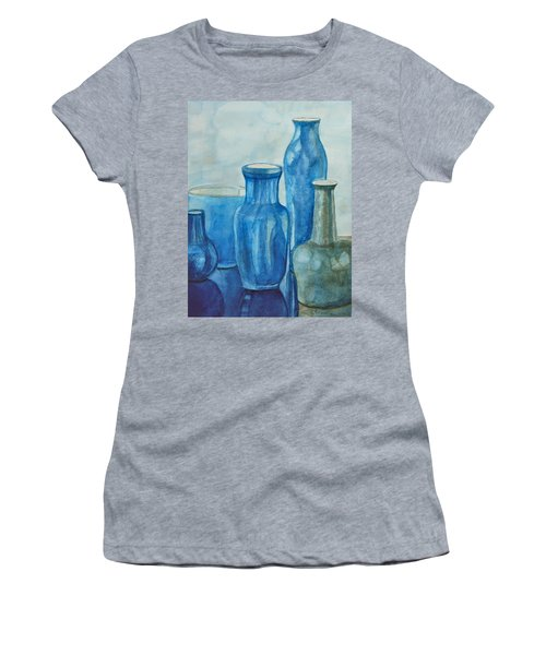 Blue Vases I Women's T-Shirt (Athletic Fit)