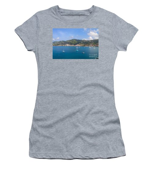 Boats In The Bay Women's T-Shirt (Athletic Fit)