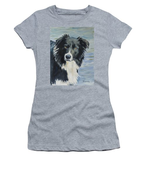 Border Collie Portrait Women's T-Shirt