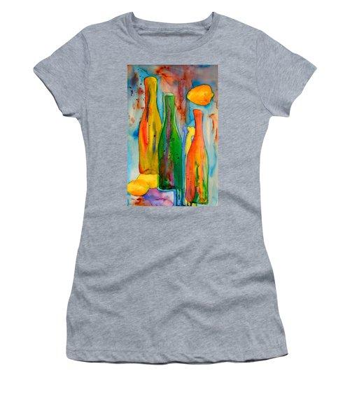 Bottles And Lemons Women's T-Shirt (Athletic Fit)