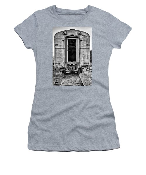 Box Car In Bw Women's T-Shirt (Athletic Fit)